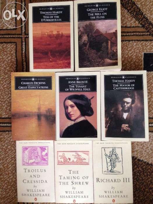 Shakespeare,Bronte,Thomas Hardy,Dickens,George Eliot books