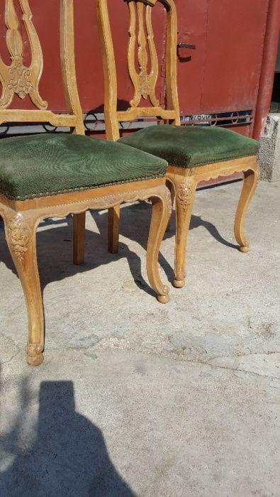 scaune vintage epoca lemn esenta tare model Hispano