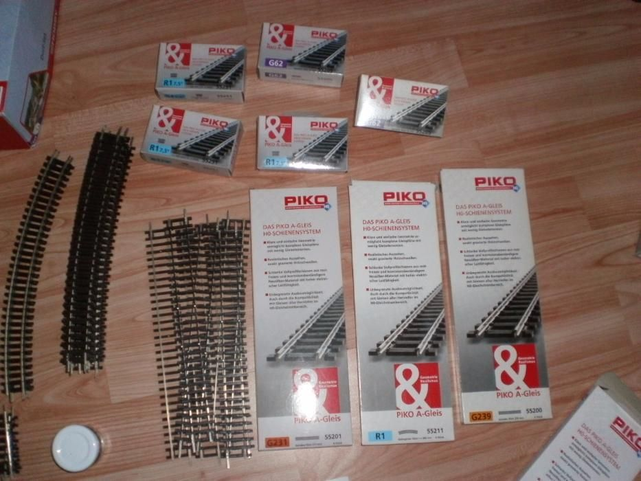 macaz, sine/linii tip I PIKO trenulet electric HO, 16,5m
