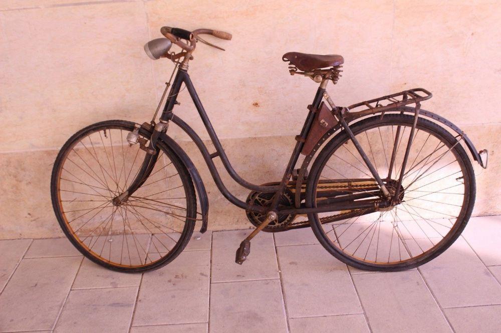Borseta Cadru Bicicleta Gritzner WW1 din Piele cu Imprimeuri