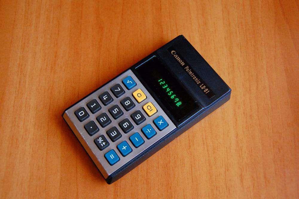 Calculator de buzunar Canon , portabil, Vintage, an 1975