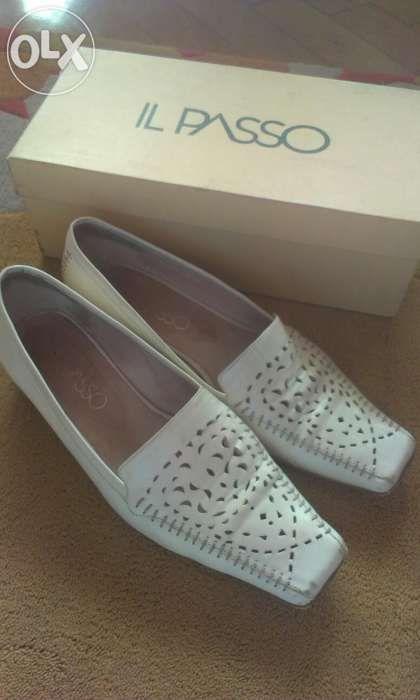 Pantofi piele albi il Passo 37