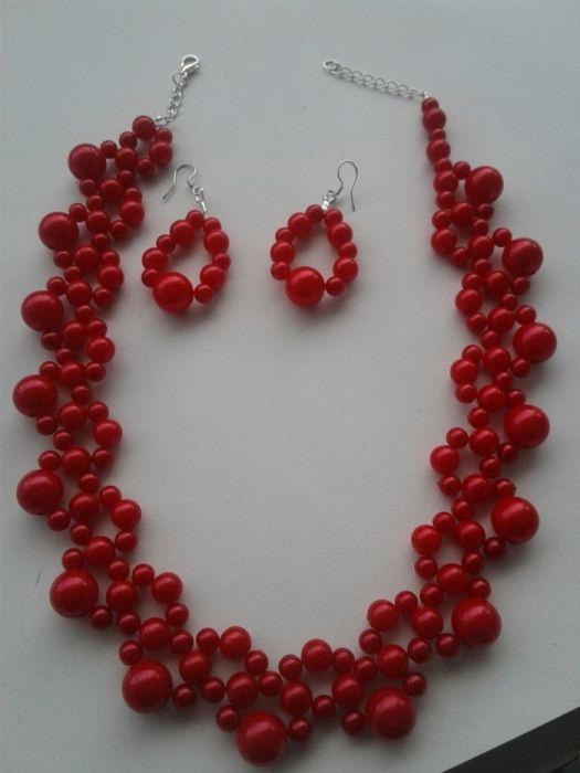 Set colier și cercei perle