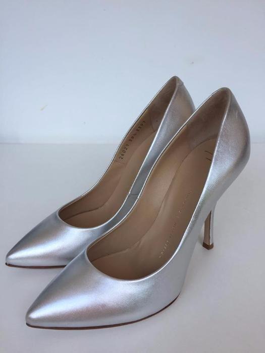 Pantofi GIUSEPPE ZANOTTI, autentici, argintii, 38,5