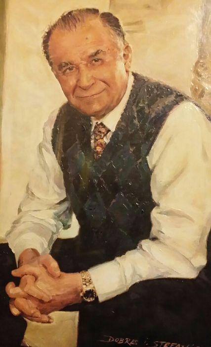 Tablou Pictura in ulei - Portretul Presedintelui ION ILIESCU Bucuresti - imagine 2