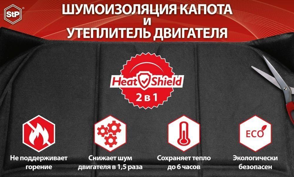 HeatShield 2в1 - Шумоизоляция капота и Утеплитель двигателя