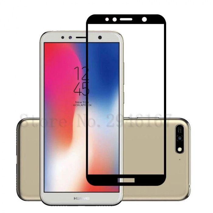 Huawei Y5 Y6 Y7 Y9 2018 - Folie Sticla Securizata Full Size Neagra