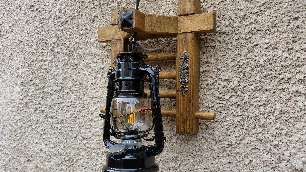 Стенна лампа фенер - Ретро аплик винтидж