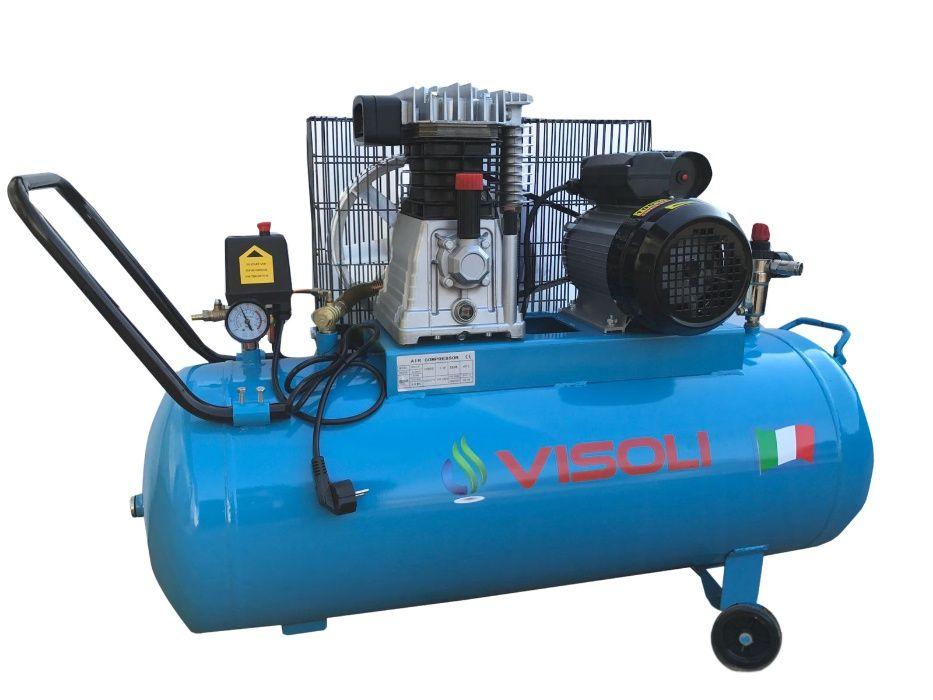 Compresor aer 100L Visoli, 10bar,220V-Oferta Limitata