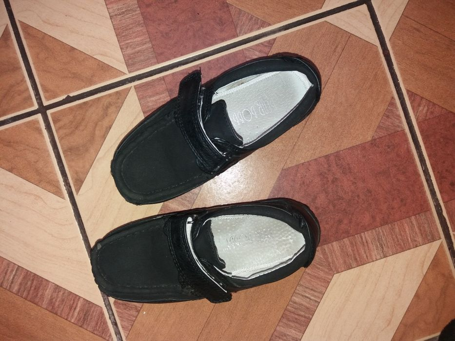 Pantofi baieti din piele neagra nr 27