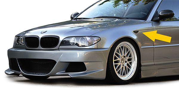 Semnalizari LED BMW E46 Coupe + Cabrio SMOKE model 3/03-2006