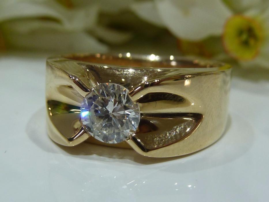 Inel aur 14k cu diamant 0.88ct