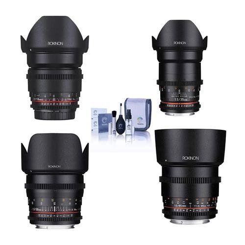 Kit de Lente Rokinon Cine DS para Montagem Canon EF Consiste em Lente