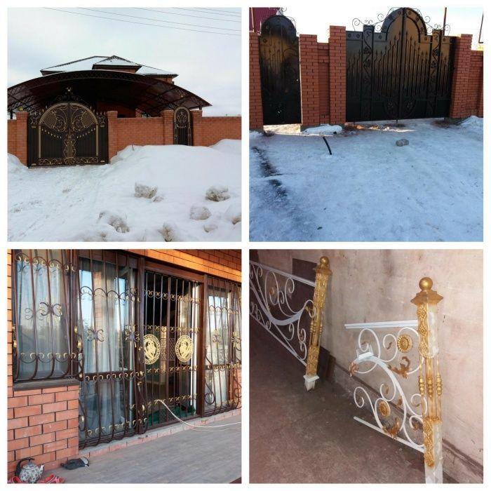 Изготовим ворота, решетки, перила, забор, навесы, металлоконструкции.