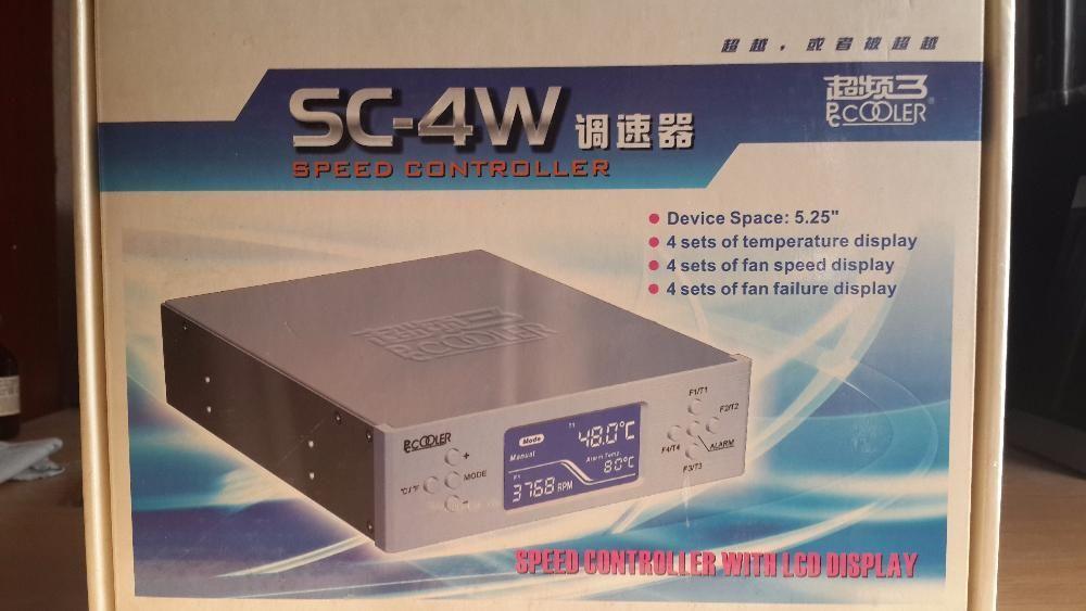 "Контроллер вентиляторов PCCooler SC-4W, for 4 fan, LED, memory, 5.25"""
