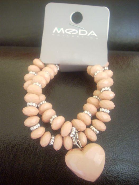 Moda collection розова гривна със сърце