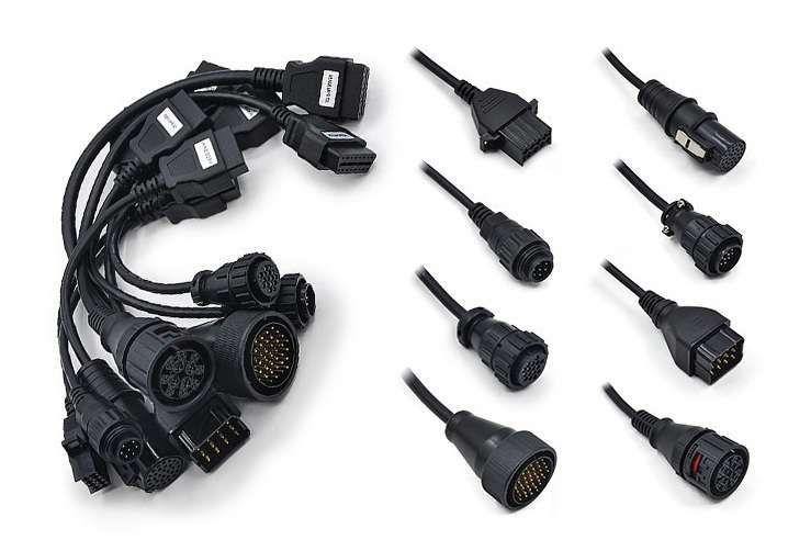 Kit set complet 8 cabluri diagnoza OBD2 Autocom Delphi Bosch Camioane