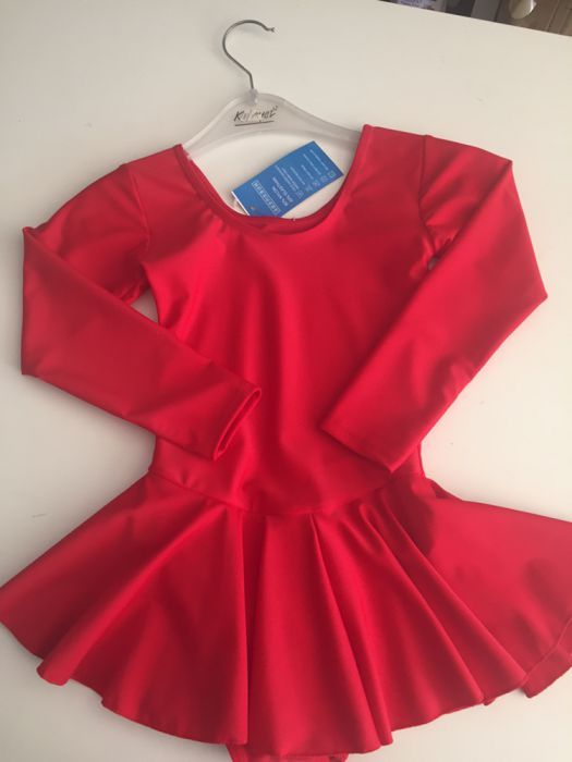 costum gimnastica-balet roșu