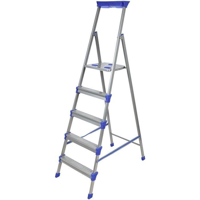 Лестница - стремянка металлическая широкие 5 ступени Nika (Ника) СМ5