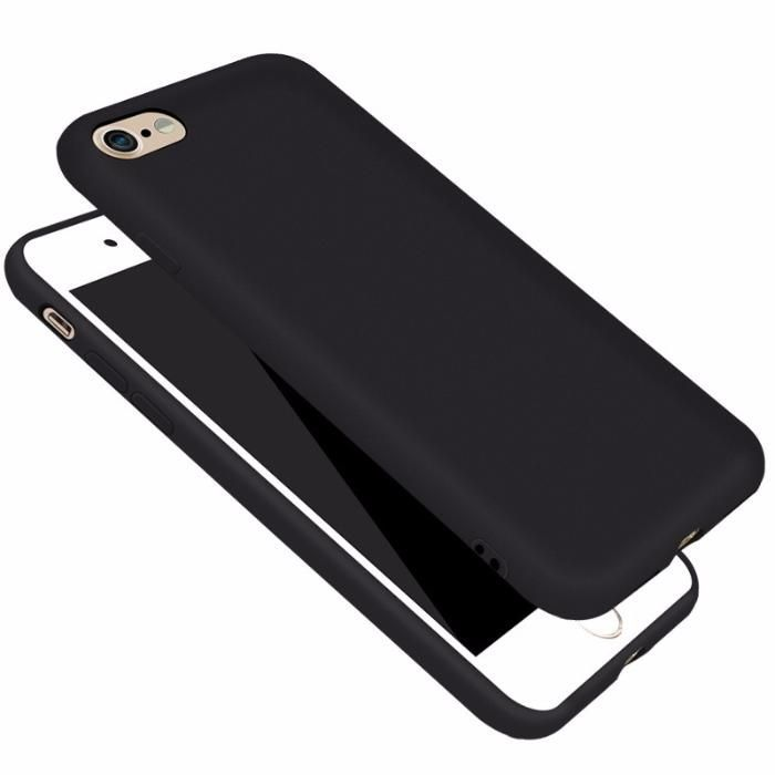 Iphone 7 7 Plus 8 8 Plus - Husa Slim 0.3mm Din Silicon Negru