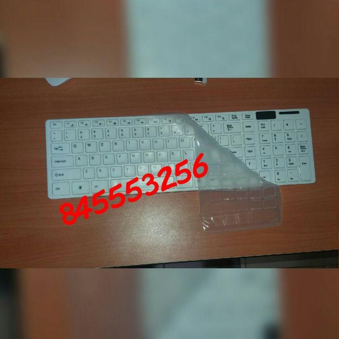 Kit de teclado e mouse wireless e capa de protecção contra poeira Bairro - imagem 3
