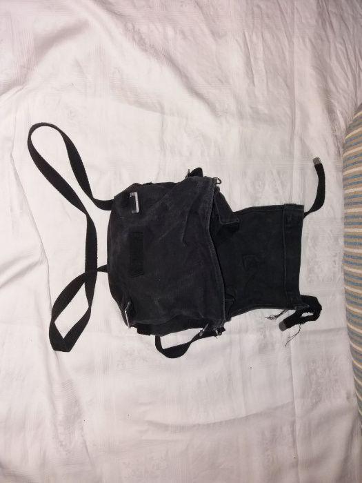 Vand sac de merinde militar bleumarin pe spate cu negru