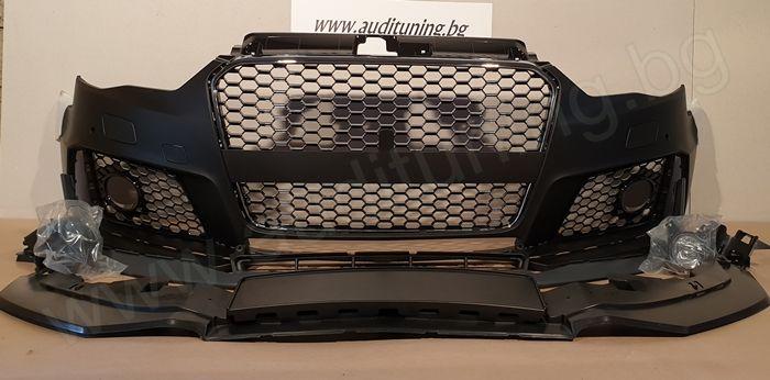 [На Склад] Предна тунинг броня за Audi A3 5D - 2013-2016
