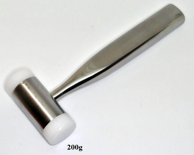 Ciocan inox cu capete din plastic 200g medicina stomatologie