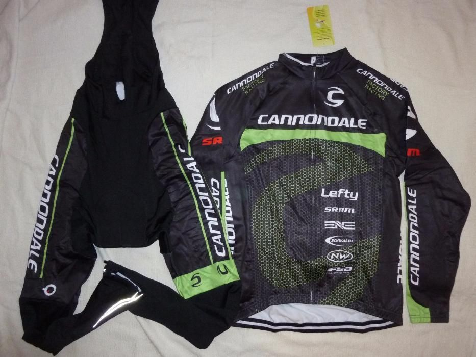 Echipament ciclism Cannondale 2018 factory Bluza iarna toamna set nou