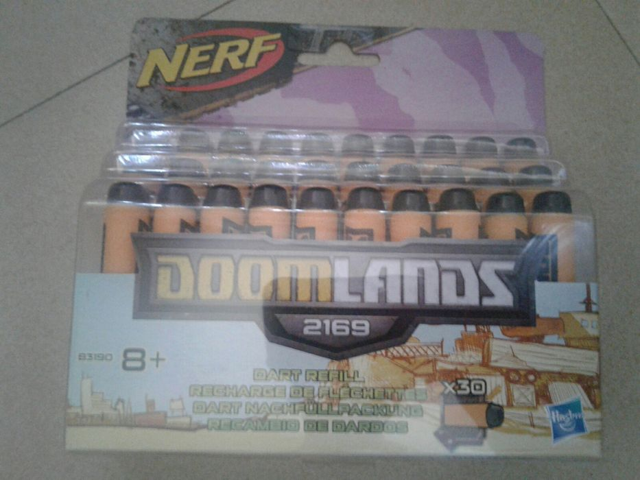 Set nou munitie cu 30 gloante/proiectile soft/buretoase Nerf Doomlands