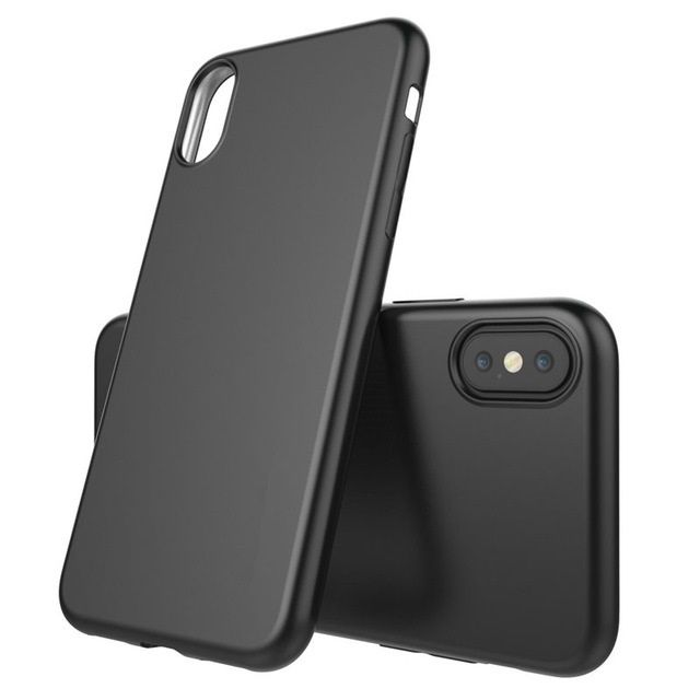 Iphone X XS 10 XR XS MAX Pachet Husa Silicon Neagra si Folie Sticla
