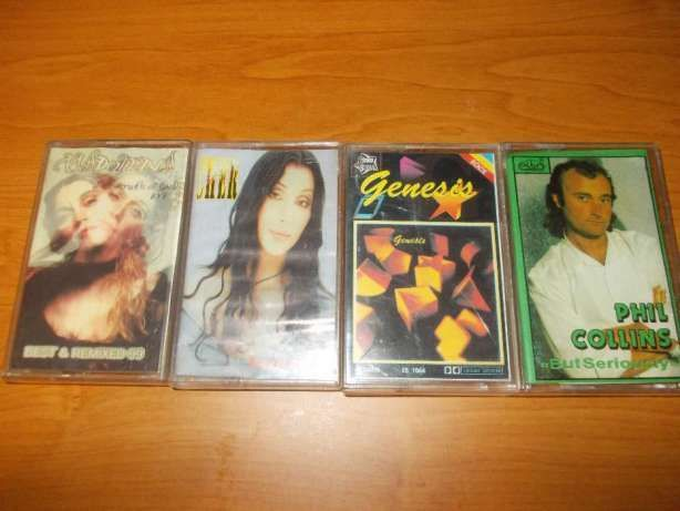 Casete audio Ace of base, Genesis , Phil Colins, Madonna, Cher