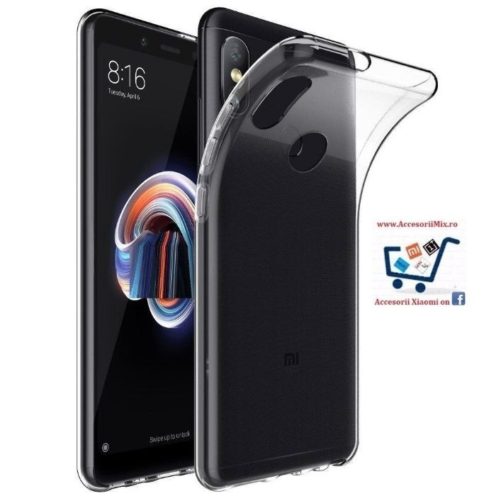 Folie Sticla Husa Silicon Xiaomi Redmi Note 5 Pro, 4X, Global Edition