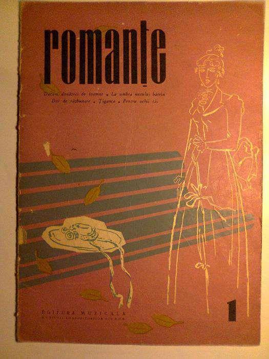 Partituri vintage - Romante - 1958