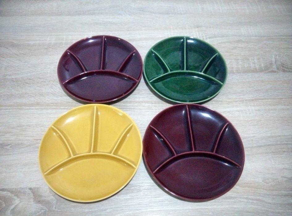 Set vintage farfurii sushi multicolor - 5 sectiuni