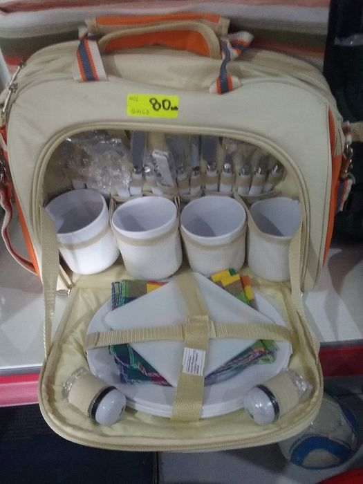 Комплект прибори за пикник в раница и чанта НОВО
