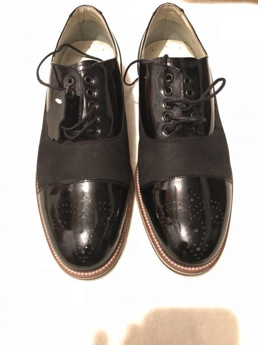 Pantofi barbati piele naturala plus piele lacuita