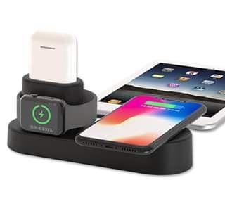 Carregador wireless Apple para iPhone,Apple Watch e AirPods