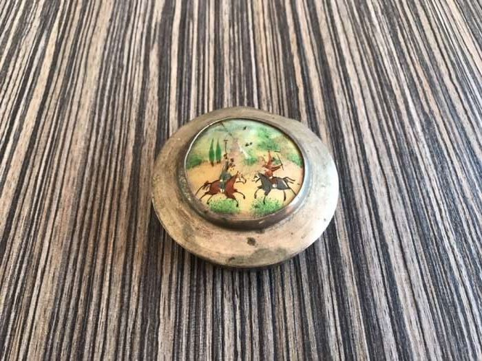 Cutie pudra persana colectie sidef vintage