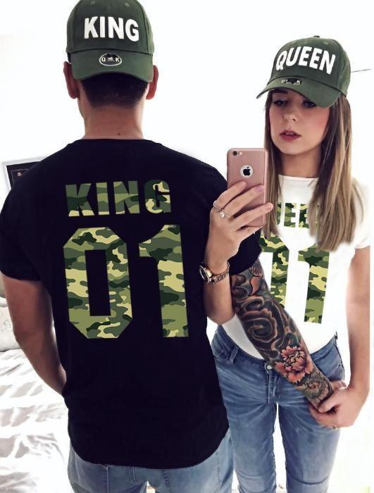 Свети Валентин За ВЛЮБЕНИ! LOVE Military тениски КАМУФЛАЖ принт!