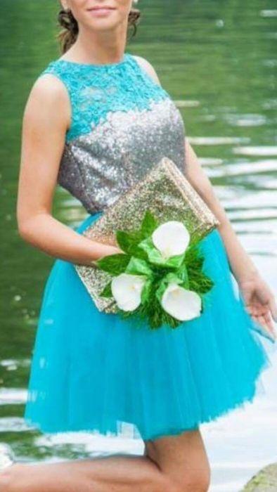 Уникална бална рокля шита по поръчка XS