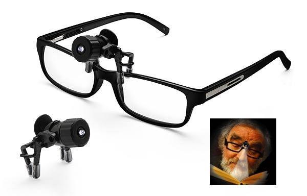 Светлина за четене-мини ЛЕД фенерче с щипки за поставяне на очила