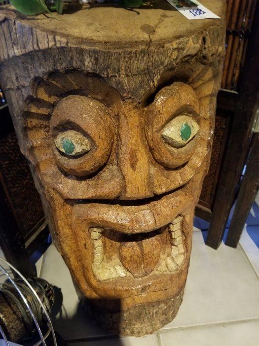 Антики - Дърворезба ( глава , лодка и китара)