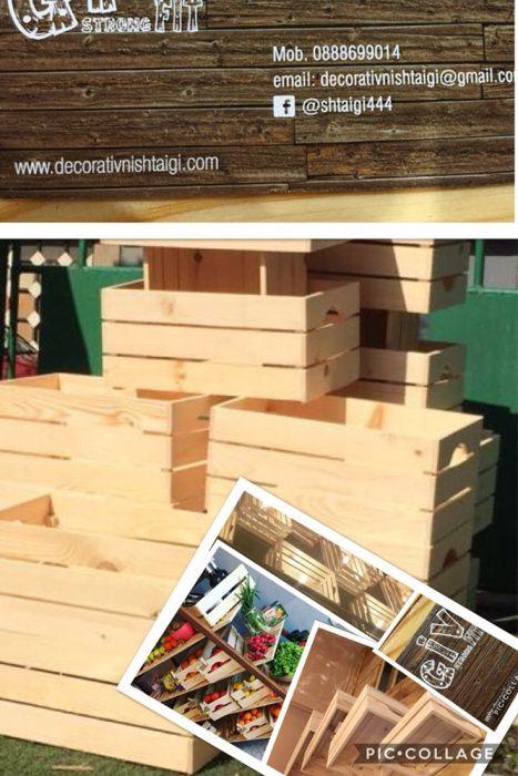 10бр. дървени щайги на цената на 9бр