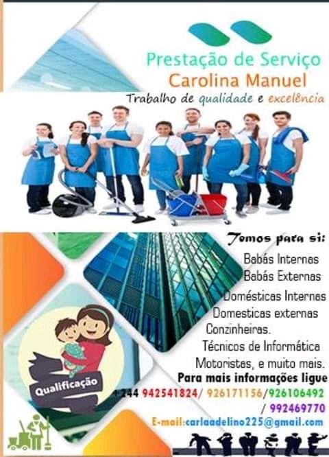 Carolina empregadas Domésticas interna