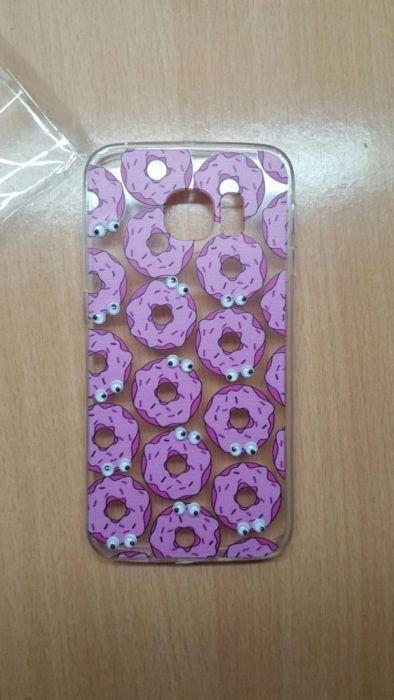 Husa silicon Samsung Galaxy s6 Edge gogosi roz