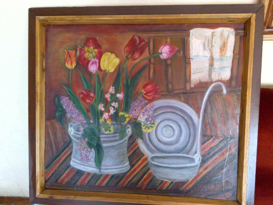 Продавам оригинална картина с маслени бои - натюрморт