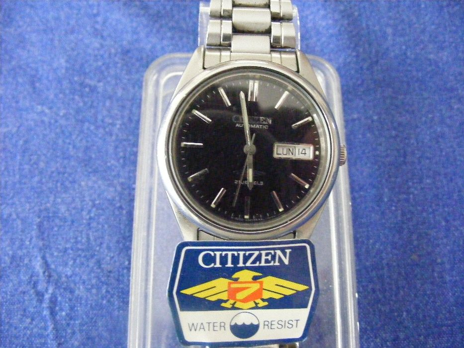 CITIZEN EAGLE 7 , ceas automatic , made in Japan , 21 jewels , negru !