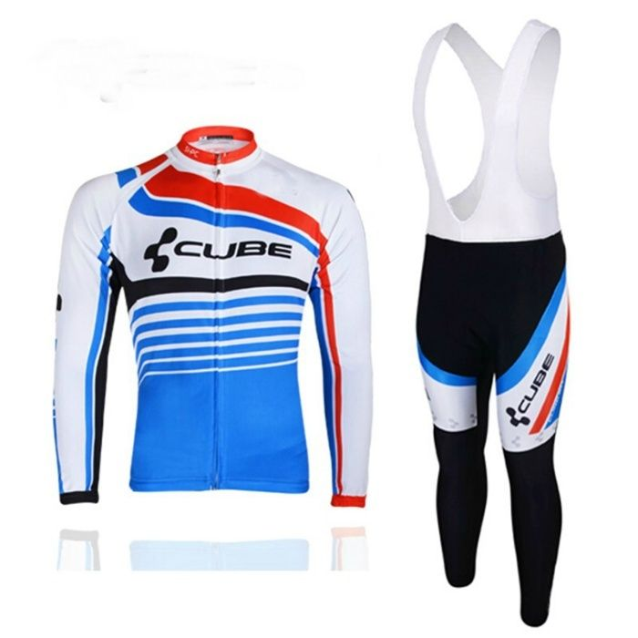 Echipament ciclism CUBE Thermal toamna iarna bluza pantaloni set nou