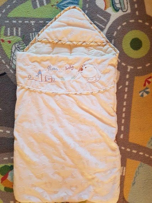Теплое одеяло-конверт на выписку и для прогулок